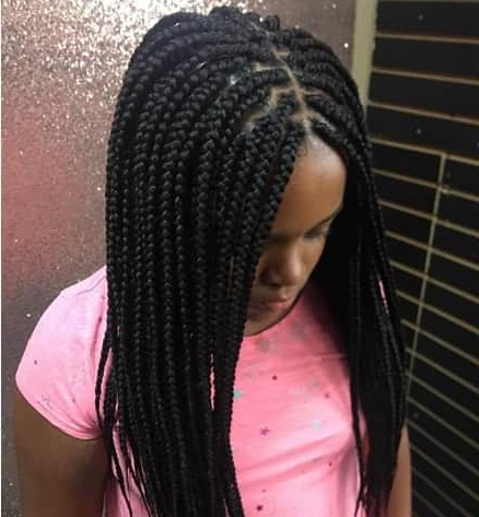 40 Braids For Black Kids 2018 – Mr Kids Haircuts Inside Most Current Centre Parted Long Plaits Braid Hairstyles (View 10 of 25)