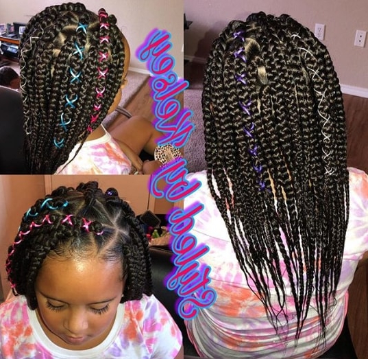 40 Braids For Black Kids 2018 – Mr Kids Haircuts Inside Most Current Thick And Thin Braided Hairstyles (View 17 of 25)