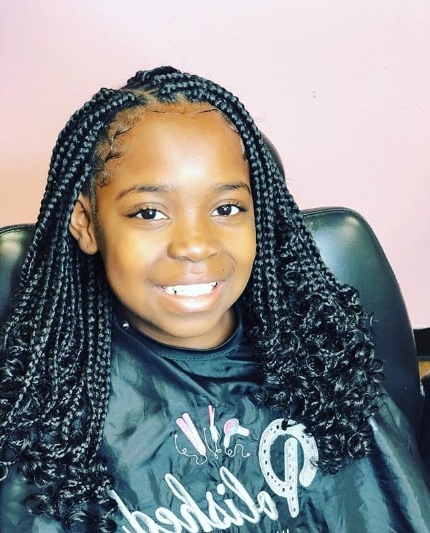 40 Braids For Black Kids 2018 – Mr Kids Haircuts Regarding Best And Newest Angled Cornrows Hairstyles With Braided Parts (View 19 of 25)
