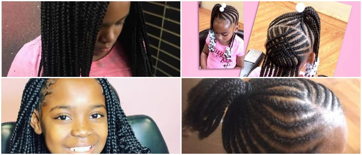 40 Braids For Black Kids 2018 – Mr Kids Haircuts Throughout Most Current Extravagant Under Braid Hairstyles (View 12 of 25)