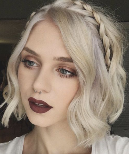 40 Cute And Clever Updos For Short Hair This Summer With 2018 Braid Hairstyles With Headband (View 8 of 25)