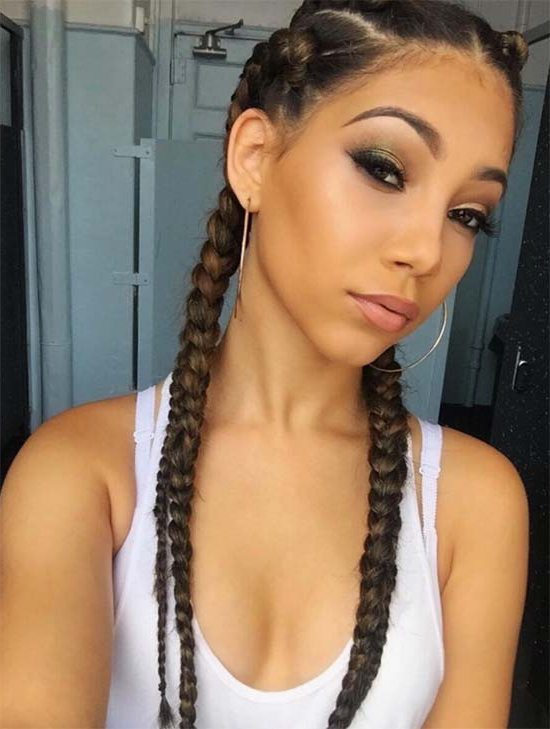 40 Different Types Of Braids For Hairstyle Junkies And Gurus For 2018 Back And Forth Skinny Braided Hairstyles (View 13 of 25)