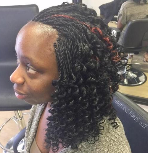 40 Ideas Of Micro Braids And Invisible Braids Hairstyles with Best and Newest Long Twists Invisible Braids With Highlights