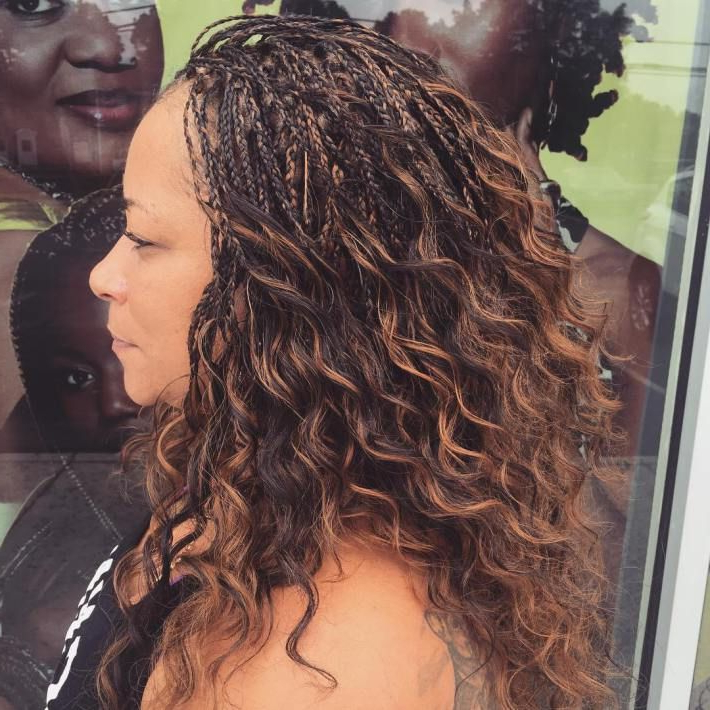 40 Ideas Of Micro Braids And Invisible Braids Hairstyles Within Recent Micro Braids Into Ringlets (View 5 of 25)