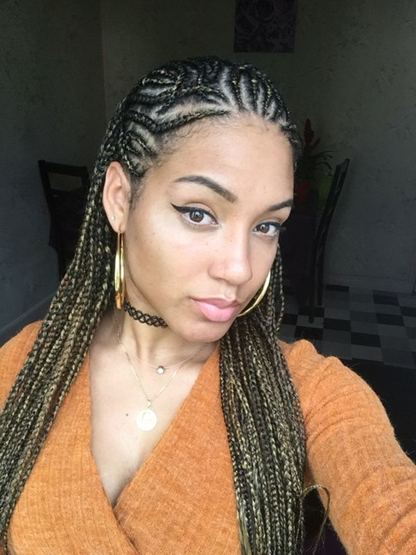 40 Lovely Ghana Braid Hairstyles To Try – Buzz 2018 Regarding Newest Whirlpool Braid Hairstyles (View 12 of 25)
