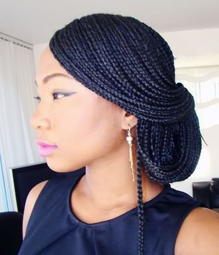 40 Micro Braids Hairstyles | Herinterest/ for Most Recently Layered Micro Box Braid Hairstyles