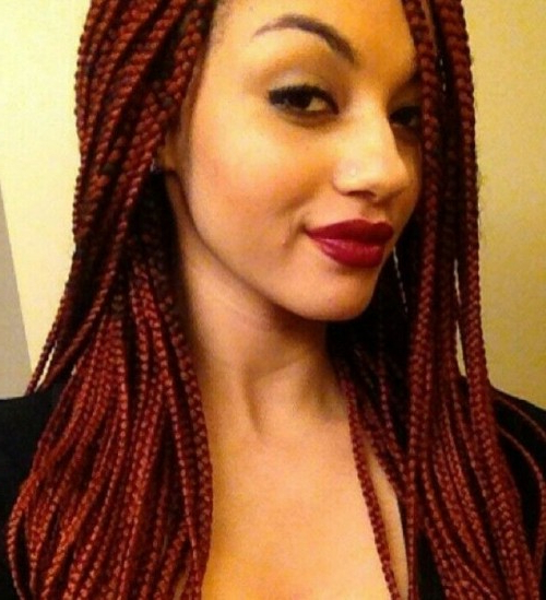 40 Micro Braids Hairstyles | Herinterest/ Inside Recent Red And Brown Micro Braid Hairstyles (View 7 of 25)