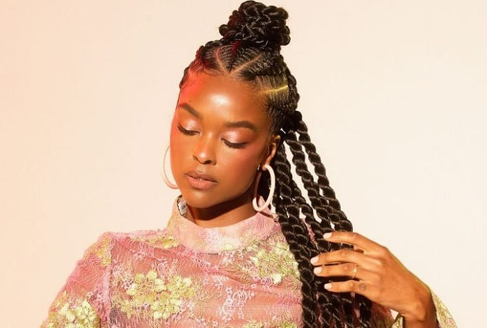 40 Of The Hottest Stitch Braids Hairstyles (2019 Guide For 2018 Angled Cornrows Hairstyles With Braided Parts (View 20 of 25)