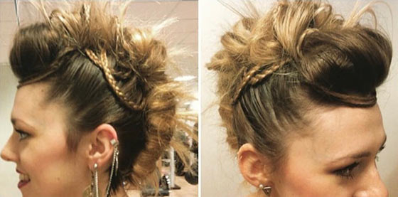 40 Quick And Easy Updos For Medium Hair with regard to Current Funky Sock Bun Micro Braid Hairstyles