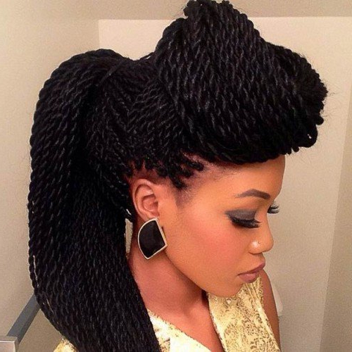 40 Senegalese Twist Hairstyles For Black Women | Herinterest throughout Most Up-to-Date Dramatic Rope Twisted Braid Hairstyles