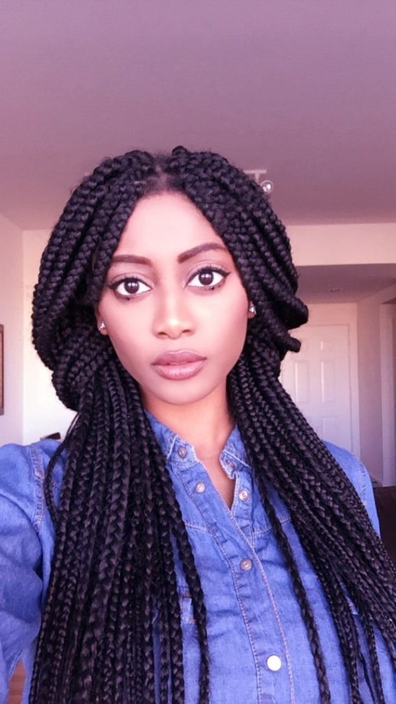 40 Stunning And Stylish Goddess Braids Hairstyles – Haircuts With Regard To Most Popular Kanekalon Braids With Golden Beads (View 22 of 25)