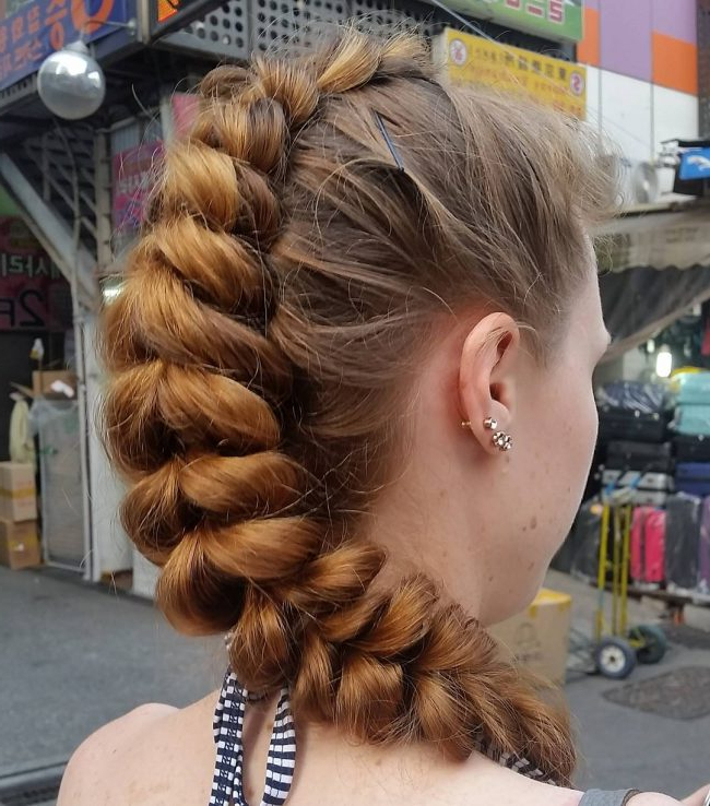 40 Stunning Braided Mohawk Hairstyles — Dare To Try! for Best and Newest Braided Mermaid Mohawk Hairstyles