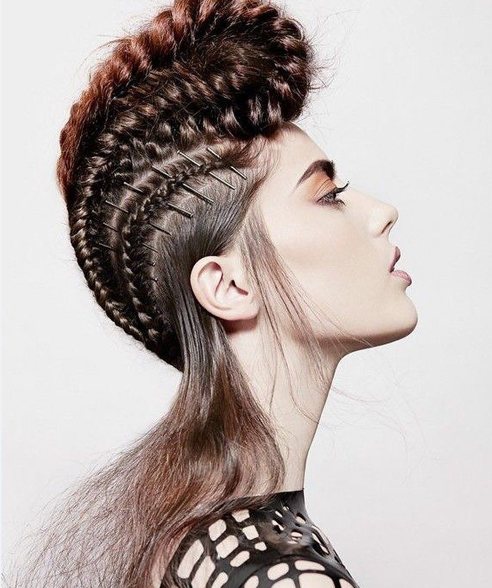 40 Stunning Braided Mohawk Hairstyles — Dare To Try! intended for Most Up-to-Date Braided Mermaid Mohawk Hairstyles