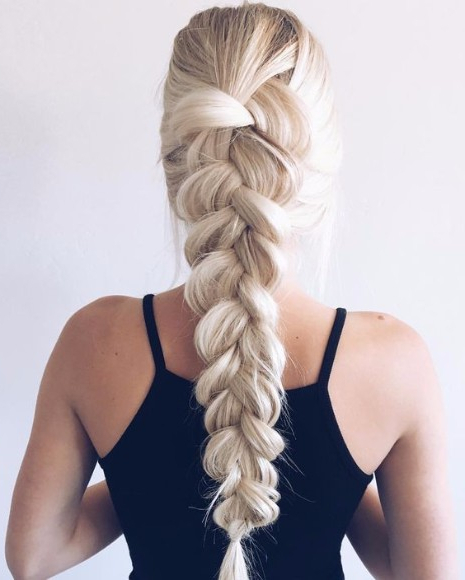 40 Top Hairstyles For Blondes – Hairstyle On Point Within Most Popular Blonde Asymmetrical Pigtails Braid Hairstyles (View 10 of 25)