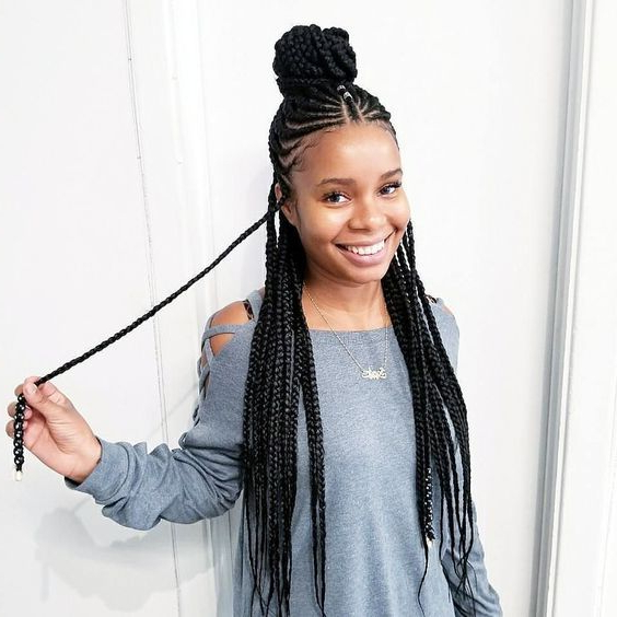 40+ Totally Gorgeous Ghana Braids Hairstyles | Classic With Regard To Most Recent Classic Style Lemonade Braided Hairstyles (View 16 of 25)