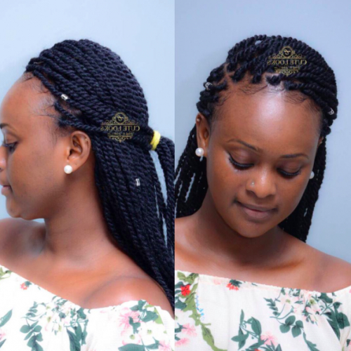 40 Twist Hairstyles For Natural Hair 2017   Herinterest/ inside Most Popular Rope Twist Updo Hairstyles With Accessories