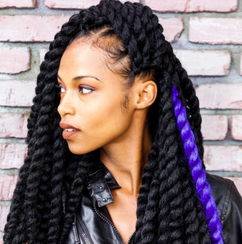 40 Twist Hairstyles For Natural Hair 2017 | Herinterest/ Regarding Most Recent Black Twists Hairstyles With Red And Yellow Peekaboos (View 24 of 25)