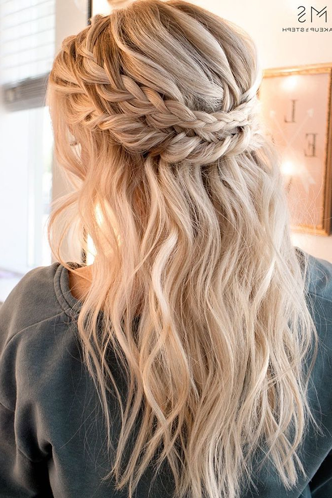 42 Boho Wedding Hairstyles | Wedding One Day | Hair Styles Within Current Chic Bohemian Braid Hairstyles (View 2 of 25)