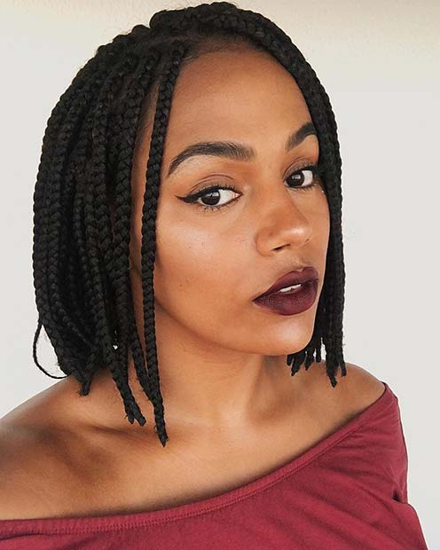 43 Cute Medium Box Braids You Need To Try | Stayglam Regarding Most Popular Bob Dookie Braid Hairstyles (View 14 of 25)