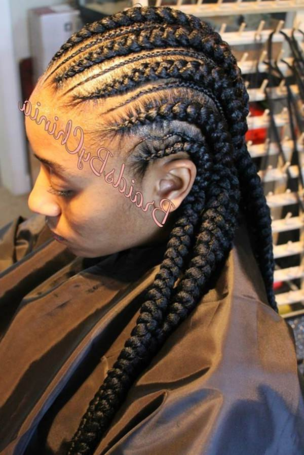43 New Feed In Braids And How To Do It - Style Easily pertaining to Most Current Thin And Thick Cornrows Under Braid Hairstyles