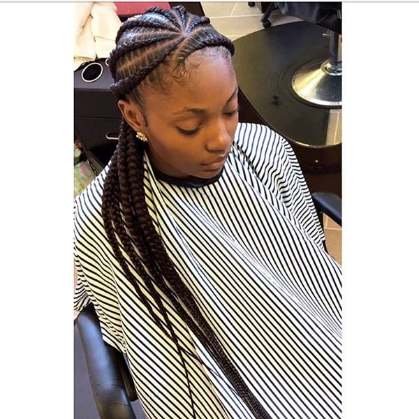 43 New Feed In Braids And How To Do It – Style Easily With Regard To Newest Angled Cornrows Hairstyles With Braided Parts (View 10 of 25)