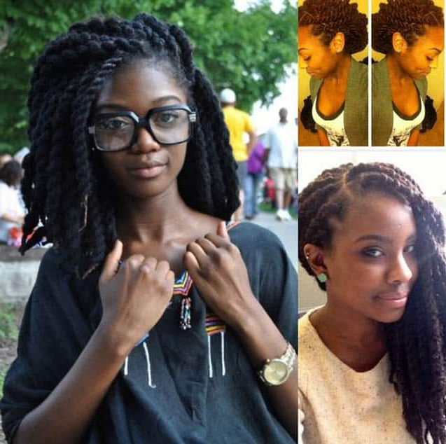 45 Amazing Kinky Twist Hairstyles For Black Women (2019 Top Regarding Current Purple Passion Chunky Braided Hairstyles (View 11 of 25)