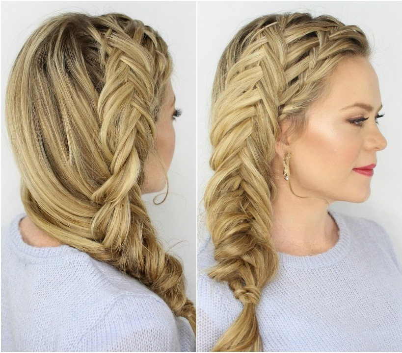 45 Easy Braid Hairstyles With How To Do Them - Haircuts inside Newest Rope And Fishtail Braid Hairstyles
