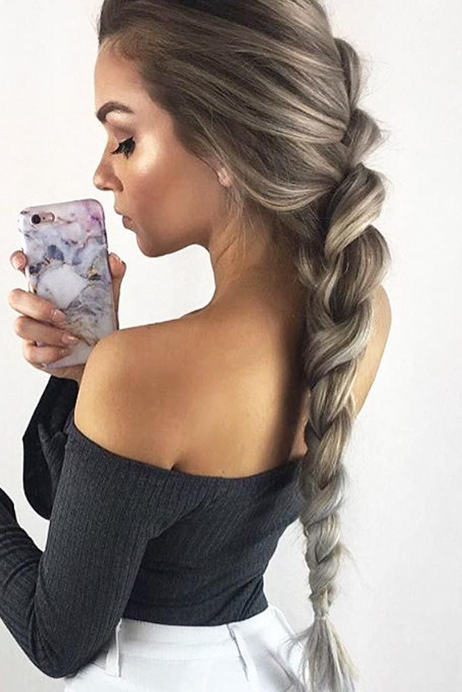 45 Easy Braid Hairstyles With How To Do Them - Haircuts pertaining to 2018 Casual Rope Braid Hairstyles