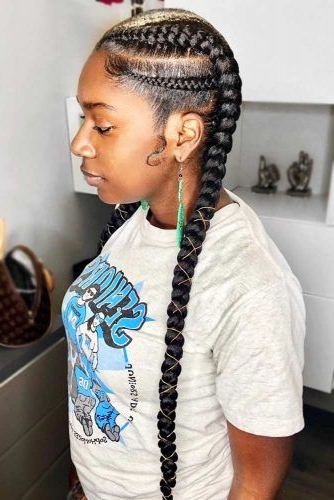 45 Enviable Ways To Rock The Latest Black Braided Hairstyles For Most Recent Afro Under Braid Hairstyles (View 14 of 25)
