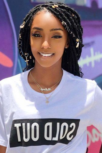 45 Enviable Ways To Rock The Latest Black Braided Hairstyles throughout 2018 Blonde Faux Locs Hairstyles With Braided Crown