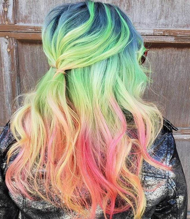45 Insanely Hot Hairstyles For Long Hair That Will Wow You intended for Most Popular Cotton Candy Colors Blend Mermaid Braid Hairstyles