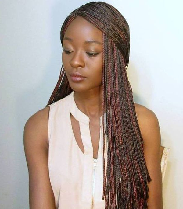 45 Micro Braids Styles To Upgrade Your Hairstyle (Trending in Most Recently Straight Mini Braids With Ombre
