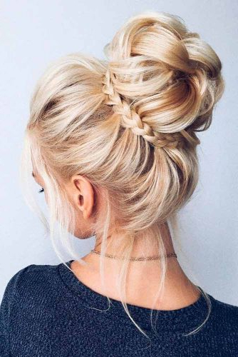 45 Trendy Updo Hairstyles For You To Try | Lovehairstyles With Regard To Most Popular Braided Ballerina Bun Hairstyles (View 15 of 25)