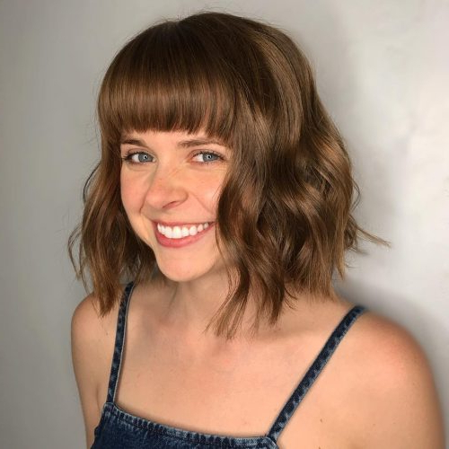 46 Bob With Bangs Hairstyle Ideas Trending For 2019 Throughout Most Up To Date Bumped And Bobbed Braided Hairstyles (View 18 of 25)