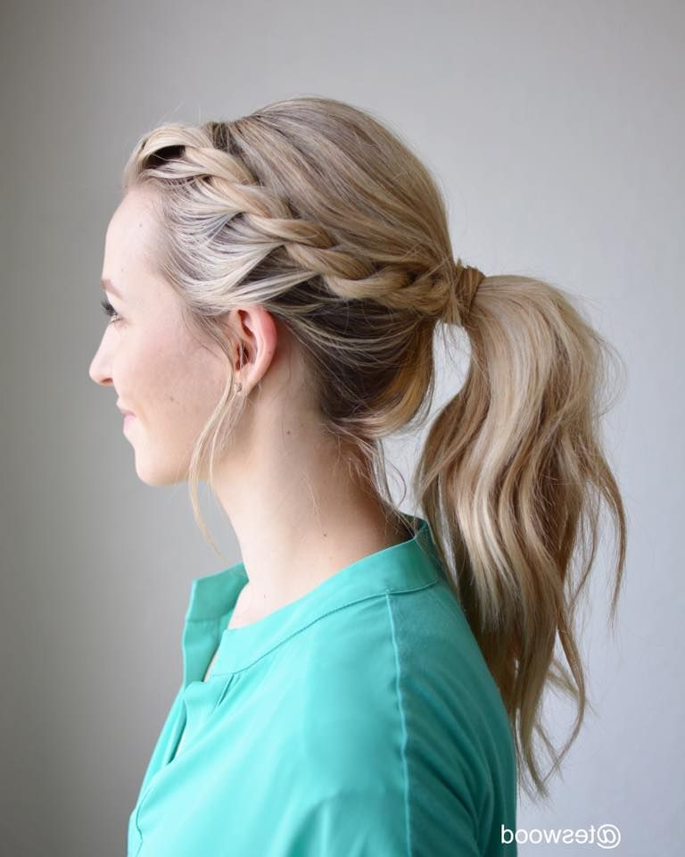 46 Exquisitely Beautiful Diy Easy Hairstyles To Turn You in Most Recent Wrapped Ponytail Braid Hairstyles