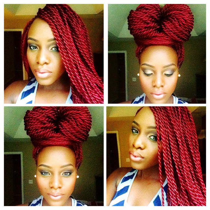 49 Senegalese Twist Hairstyles For Black Women | Naturalista throughout Newest African Red Twists Micro Braid Hairstyles