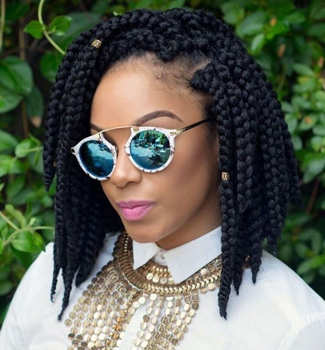 5 Super Cute Short Box Braid Hairstyles For 2018 (And Beyond With Current Short And Chic Bob Braid Hairstyles (View 11 of 25)