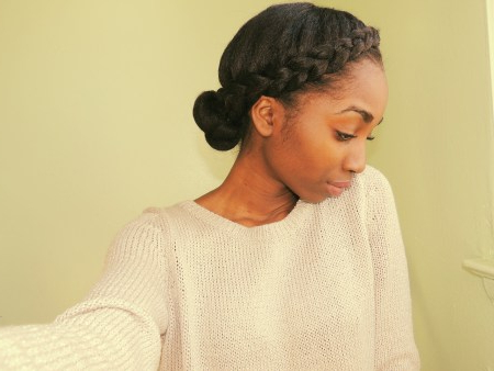5 Ways To Do Milk Maid/halo Crown/goddess Braids On Natural With Regard To Most Current Black Crown Under Braid Hairstyles (View 18 of 25)