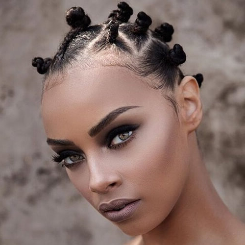 50 Beautiful Bantu Knots Ideas To Inspire You   Hair Motive With Regard To Most Popular Bantu Knots And Beads Hairstyles (View 24 of 25)
