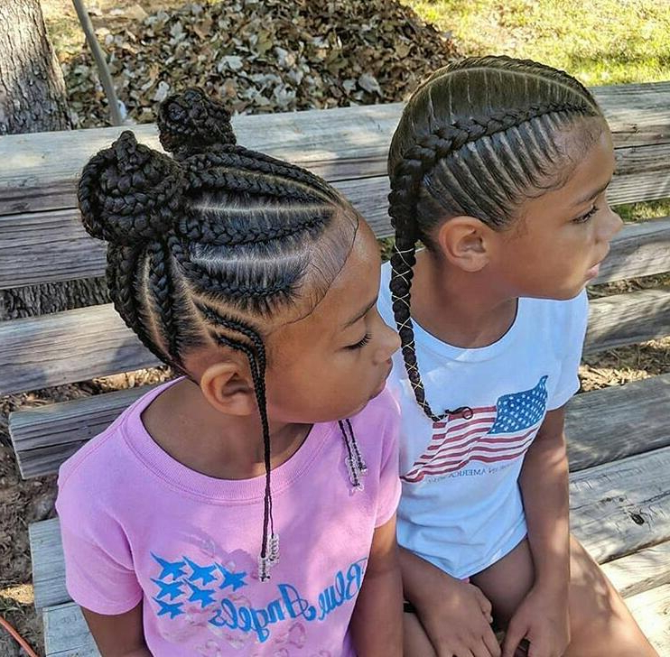 50 Beautiful Hairstyles For Little Black Girls Throughout Most Up To Date Minnie Mouse Buns Braid Hairstyles (View 9 of 25)