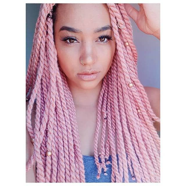 50 Beautiful Ways To Wear Twist Braids For All Hair Textures For Current Pink Rope Braided Hairstyles (View 4 of 25)