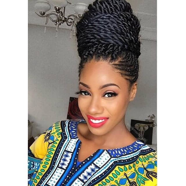 50 Beautiful Ways To Wear Twist Braids For All Hair Textures Inside Most Up To Date Loose Twist Hairstyles With Hair Wrap (View 3 of 25)