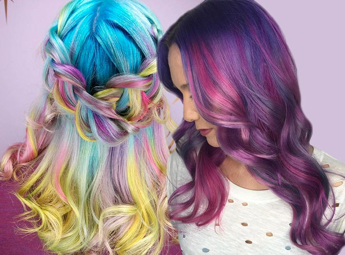 50 Bold Pastel And Neon Hair Colors In Balayage And Ombre Within Newest Cotton Candy Colors Blend Mermaid Braid Hairstyles (View 9 of 25)