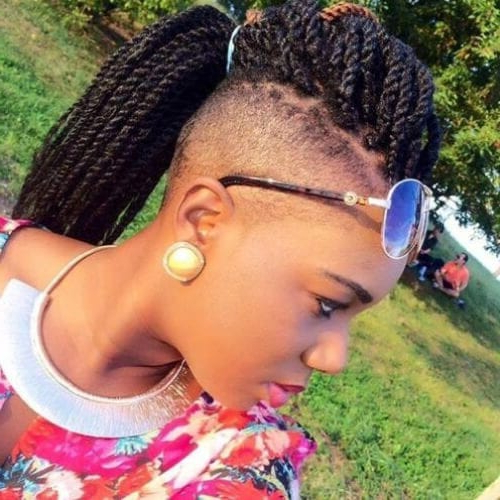 50 Cool Kinky Twist Hairstyles To Try This Summer – My New Pertaining To Best And Newest Undershave Micro Braid Hairstyles (View 20 of 25)
