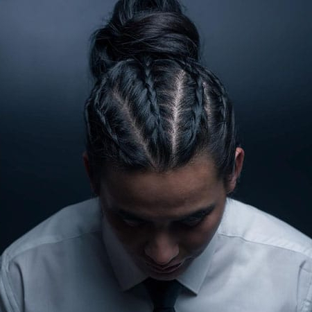 50 Cool Man Braid Hairstyles For Men – The Trend Spotter Throughout Recent Topknot Ponytail Braided Hairstyles (View 8 of 25)