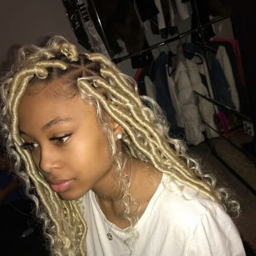 50 Creative Braid Hairstyles With Weave | All Women Hairstyles In Current Blonde Braid Hairstyles (View 10 of 25)