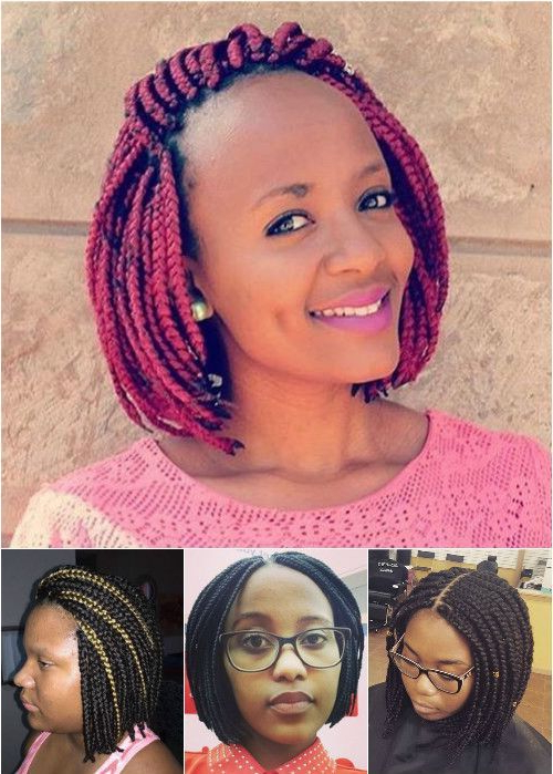 50 Exquisite Box Braids Hairstyles That Really Impress For Most Recently Bob Braid Hairstyles With A Bun (View 11 of 25)