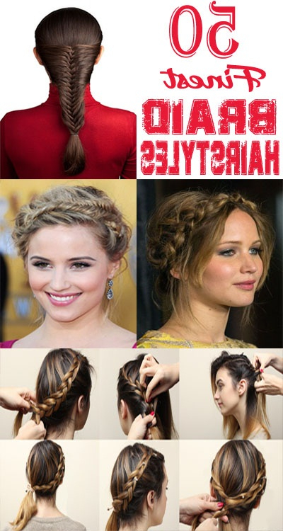 50 Finest And Easy Braided Hairstyles To Suit Your Style With Most Current Heart Shaped Fishtail Under Braid Hairstyles (View 25 of 25)