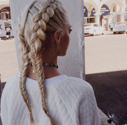 50 French Braid Hairstyles For 2015 | Stayglam Regarding Most Recently Thick Two Side Fishtails Braid Hairstyles (View 9 of 25)