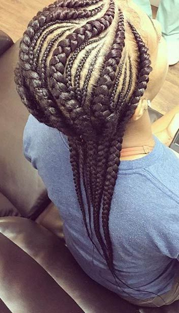 50 Ghana Braids Styles | Herinterest/ With Most Popular Thick And Thin Braided Hairstyles (View 16 of 25)